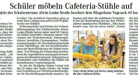 Projekt beschert dem Bürgerhaus Vegesack 60 bunte Sitzmöbel