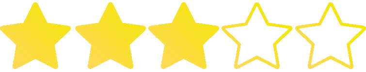 In dieser Kategorie wurden 3 von 5 möglichen Sternen vergeben